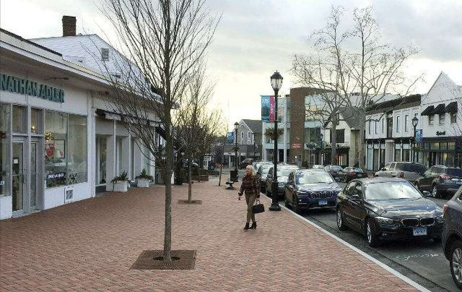 Downtown Westport on a recent afternoon. Photo: Associated Press