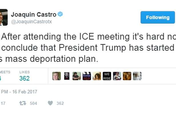 "@JoaquinCastrotx: ""1. After attending the ICE meeting it's hard not to conclude that President Trump has started his mass deportation plan."""