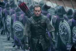 "This image released by Legendary Pictures and Universal Pictures shows Matt Damon as William Garin  in a scene from ""The Great Wall.""  (Jasin Boland/Legendary Pictures and Universal Pictures via AP) ORG XMIT: NYET706"