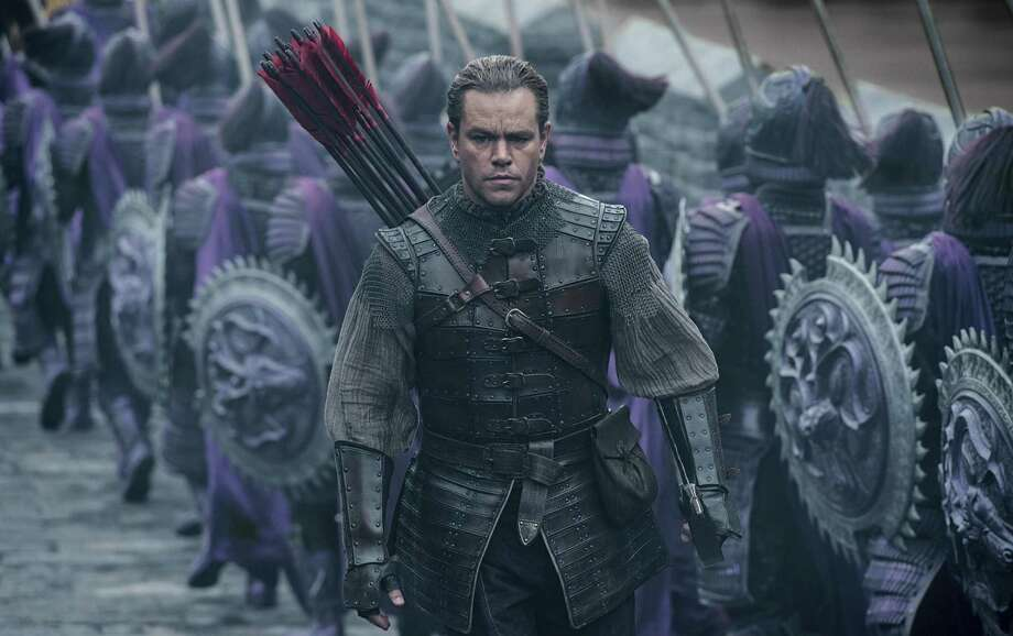 "This image released by Legendary Pictures and Universal Pictures shows Matt Damon as William Garin  in a scene from ""The Great Wall.""  (Jasin Boland/Legendary Pictures and Universal Pictures via AP) Photo: Jasin Boland, HONS / Associated Press / © Universal Pictures"