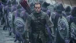 "This image released by Legendary Pictures and Universal Pictures shows Matt Damon as William Garin  in a scene from ""The Great Wall.""  (Jasin Boland/Legendary Pictures and Universal Pictures via AP)"