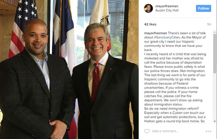Port Arthur Mayor Derrick Freeman voiced his support for the local Hispanic population in a post on Instagram on Feb. 16, 2017. (Photo: @mayorfreeman/Instagram)