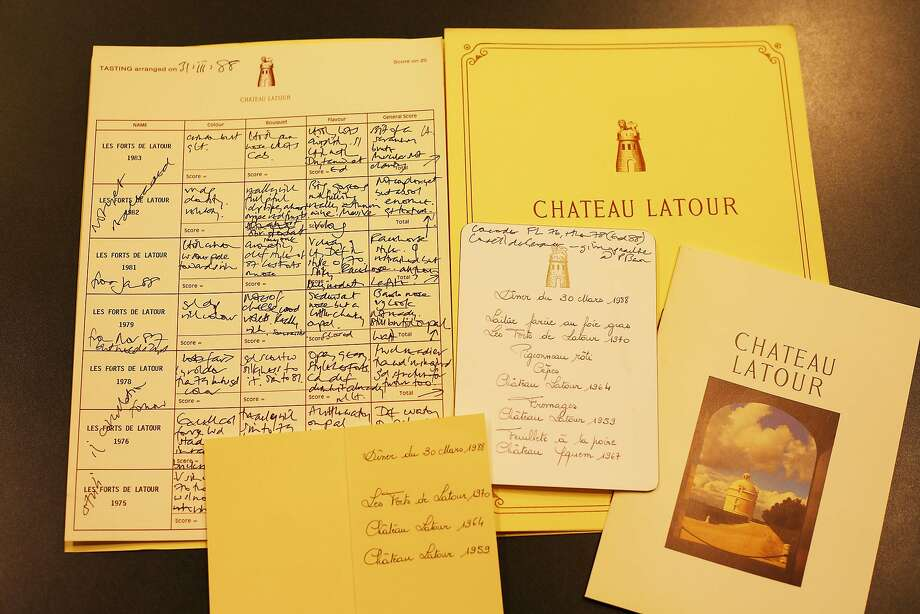 Jancis Robinson's donation to UC Davis includes her wine tasting notes back to 1976, such as these notes on Chateau Latour from 1988. Photo: UC Davis Library