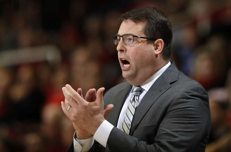Stanford coach Jerod Haase applauds during the first half of the team's NCAA college basketball game against Colorado on Thursday, Feb. 2, 2017, in Stanford, Calif. (AP Photo/Marcio Jose Sanchez) Photo: Marcio Jose Sanchez, Associated Press
