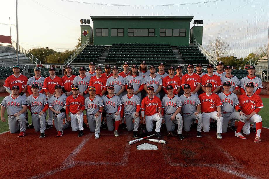 Lamar University's 2017 baseball team  Photo taken Friday 2/3/17 Ryan Pelham/The Enterprise Photo: Ryan Pelham / ©2017 The Beaumont Enterprise/Ryan Pelham