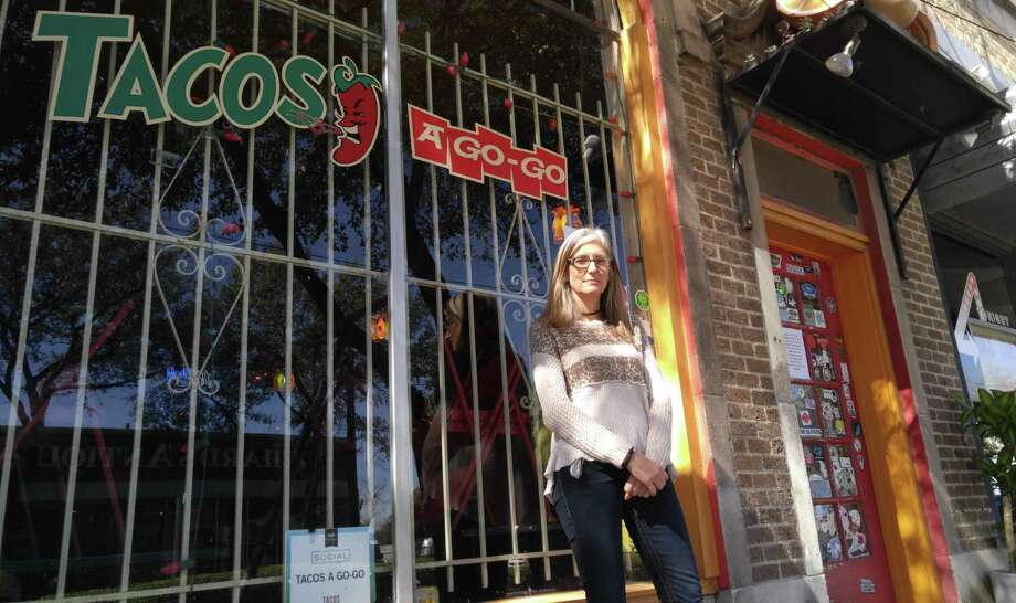 "Sharon Haynes, the owner of Tacos A Go Go at 3704 Main St. in Houston, decided to close her restaurant on the Day without Immigrants demonstration on February 16, 2017. She said that as a business owner, she was left with two choices: ""I could threaten to fire those people, people that have been working for me for years, if they didn't show up to work today, or I could close the restaurant for the day, so for me it was an easy choice to close the restaurant."" Photo: Olivia P. Tallet"