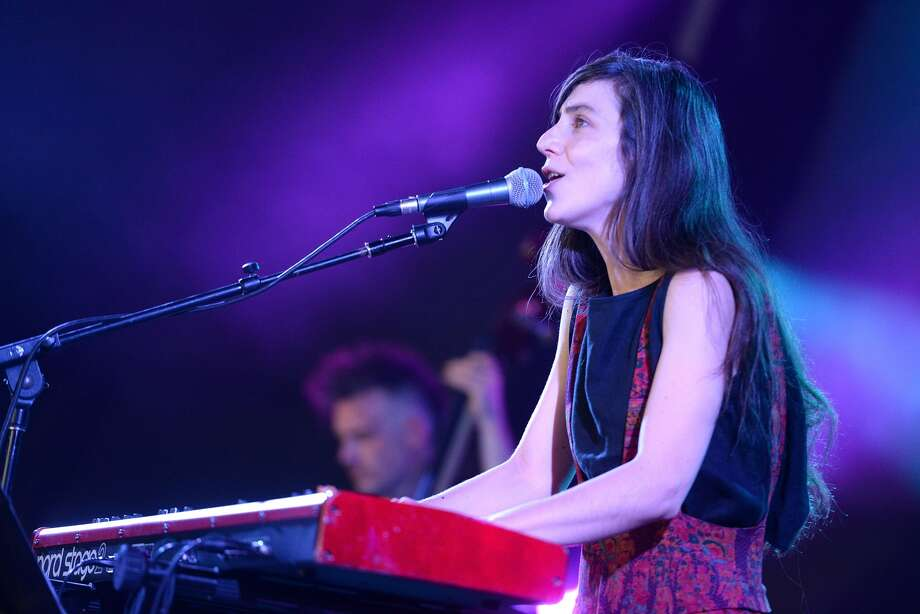 LOS ANGELES, CA - AUGUST 28: Singer Julia Holter performs onstage during the FYF Festival at Los Angeles Sports Arena on August 28, 2016 in Los Angeles, California. (Photo by Scott Dudelson/WireImage)
