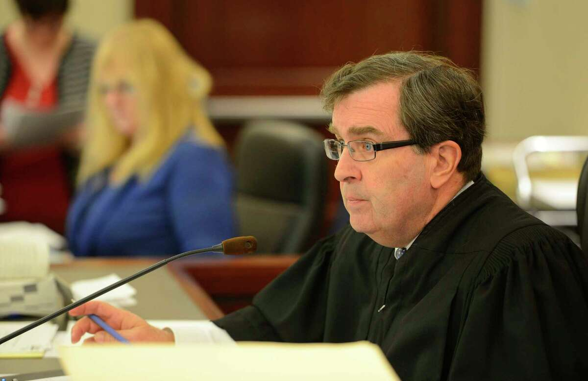 Judge Thomas Breslin sentences Ian Eckardt-Rigberg on manslaughter charges in the Albany County Judicial Center Thursday morning March 28, 2013 in Albany. N.Y. (Skip Dickstein/Times Union)