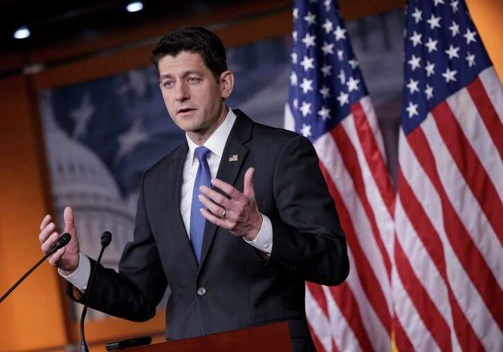 House Speaker Paul Ryan of Wisconsin meets  with reporters on Thursday on Capitol Hill to tout tax reform.