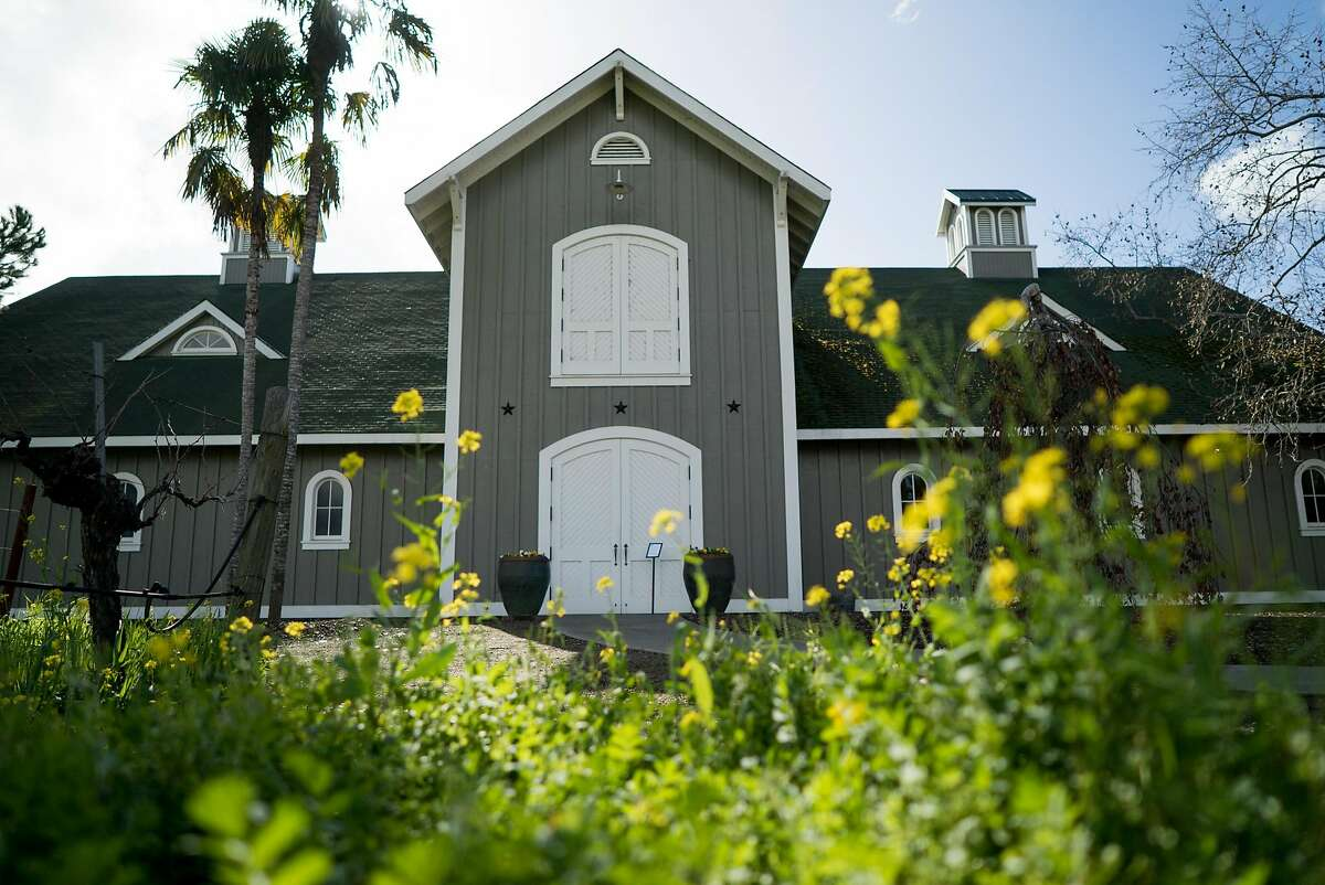 Vines and Mustard flowers surround Corison Winery in St. Helena, Calif. on Thursday, Feb. 16, 2017. Corison Winery is housed in a barn on St. Helena Highway.