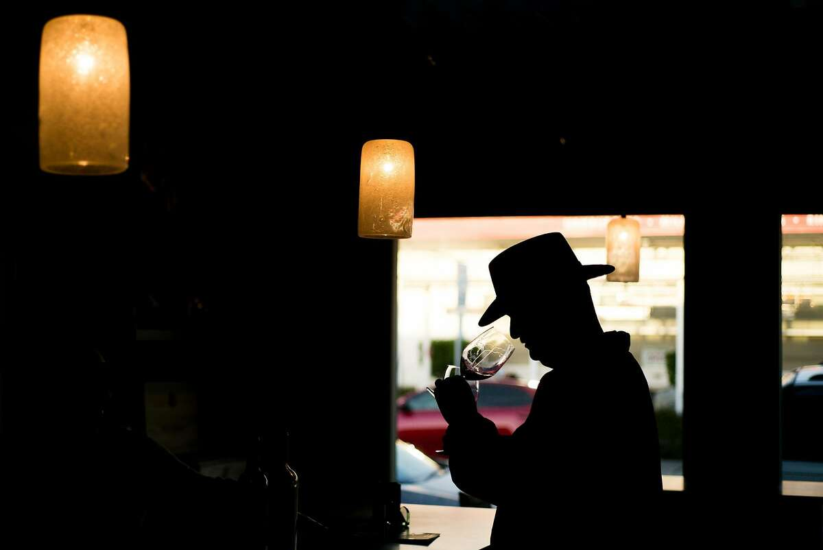 Wallace Vietz samples wines in Napa, Calif. on Thursday, Feb. 16, 2017. The Wine Thief sells wine from small producers.