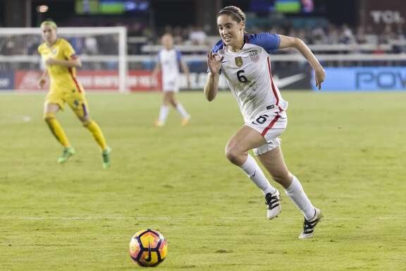 SAN JOSE, CA - NOVEMBER 20:  Morgan Brian #6 of the USA plays in a soccer game against Romania on November 10, 2016 at Avaya Stadium in San Jose, California.  (Photo by David Madison/Getty Images)