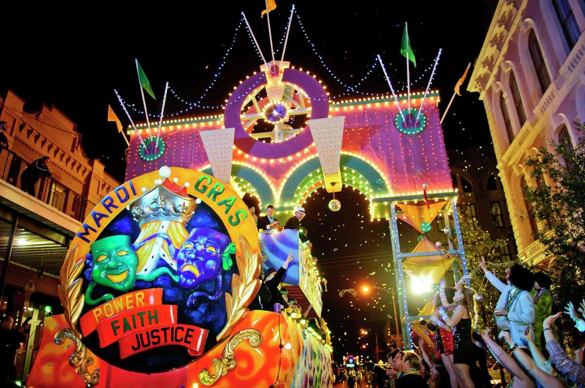 Mardi Gras Galveston festivities include Friday night's First Responder, All Krewe and Krewe de Yaga parades in the Strand District, starting at 8 p.m.