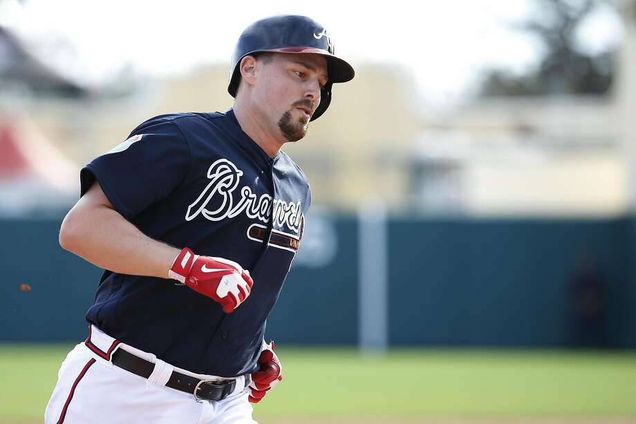 Ryan Lavarnway is competing for a backup catching job with the A's after playing parts of four seasons with the Red Sox, followed by stints with Baltimore and Atlanta. Photo: Joe Robbins, Getty Images