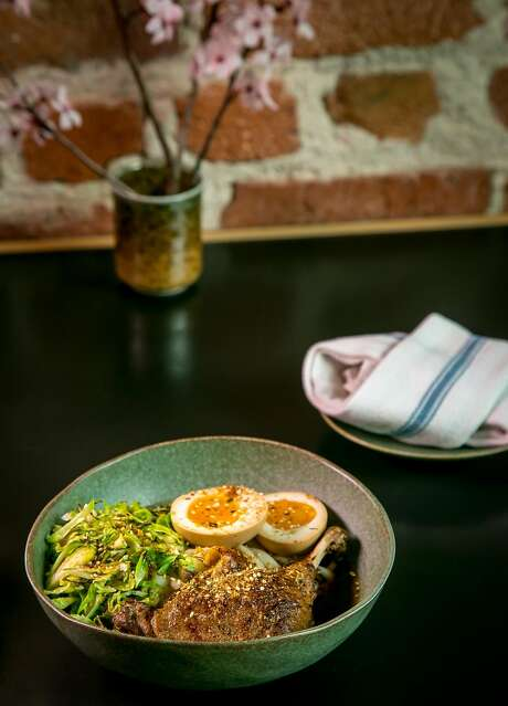 Braised duck leg with udon at Onsen in S.F. Photo: John Storey, Special To The Chronicle