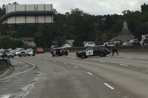 An active shooter was reportedly armed with a rifle Friday morning, shutting down a section of I-580 in Oakland, according to California Highway Patrol.