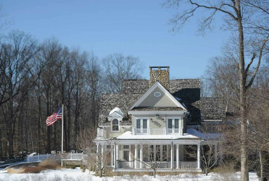 The home at 44 Mooreland Rd. in the backcountry of Greenwich, Conn., photographed on Thursday, Feb. 16, 2017. The home is a luxury rental, which is listed at $40,000 per month. Photo: Tyler Sizemore / Hearst Connecticut Media / Greenwich Time
