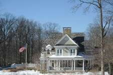 The home at 44 Mooreland Rd. in the backcountry of Greenwich, Conn., photographed on Thursday, Feb. 16, 2017. The home is a luxury rental, which is listed at $40,000 per month.