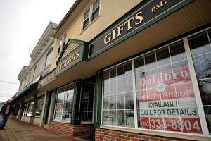 The closed Clough's Hardware is one of several available properties in the Paradise Green business district of Stratford, Conn. on Wednesday, February 15, 2017.