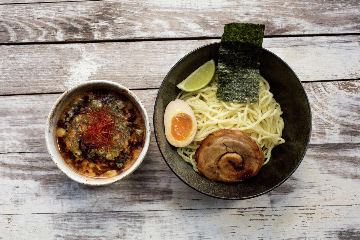 Austin import Ramen Tatsu-Ya will open in Houston Feb. 20 at 1722 California. Shown: Tsukemen ramen with condensed pork bone dipping broth.