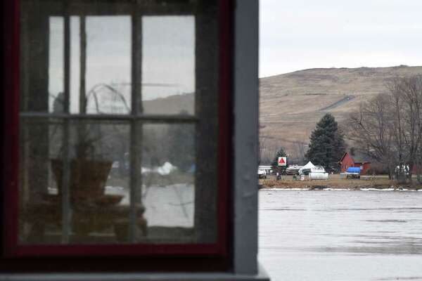 View of the Colonie Landfill from George Harris' property which overlooks the Mohawk River on Friday, Jan. 20, 2017, in Colonie, N.Y. (Will Waldron/Times Union)
