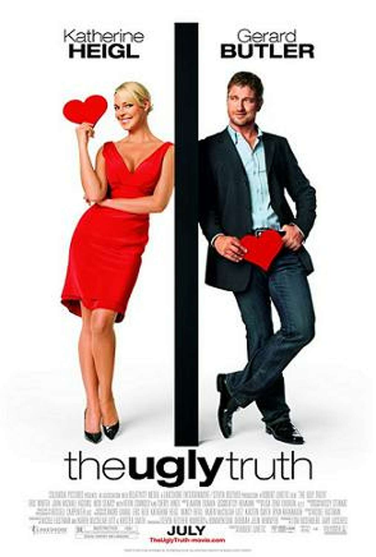 The Ugly Truth (2009) Starring: Katherine Heigl, Gerard Butler, Eric Winter Audience Score: 60 Tomatometer Score: 13 Source: Rotten Tomatoes
