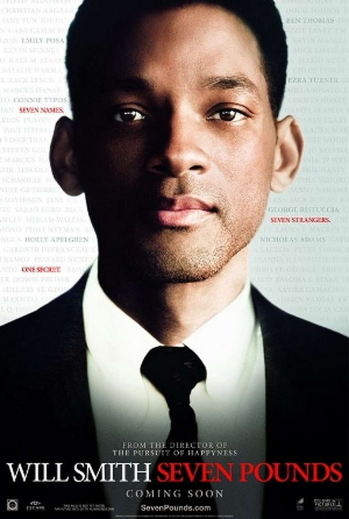 Seven Pounds (2008) Starring: Will Smith, Rosario Dawson, Woody Harrelson Audience Score: 75 Tomatometer: 27 Source: Rotten Tomatoes