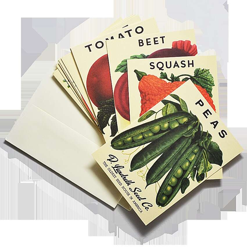 Send good wishes and hopes for the spring planting season with these notecards from our own local celebrities, the Beekman Boys, and their company, Beekman 1802. The cards feature packet designs from another home-grown treasure, the Landreth Seed Co. $22 for a packet of 18 cards. shop.beekman1802.com