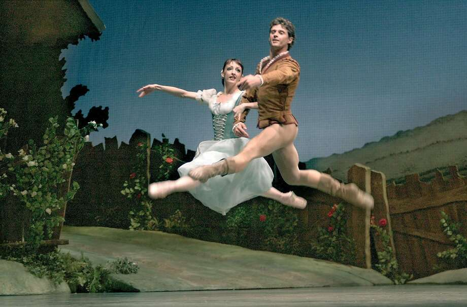 "Lorena Feijoo in the title role of ""Giselle,"" with Yuri Possokhov as Albrecht. Photo: Chris Hardy, SFC"