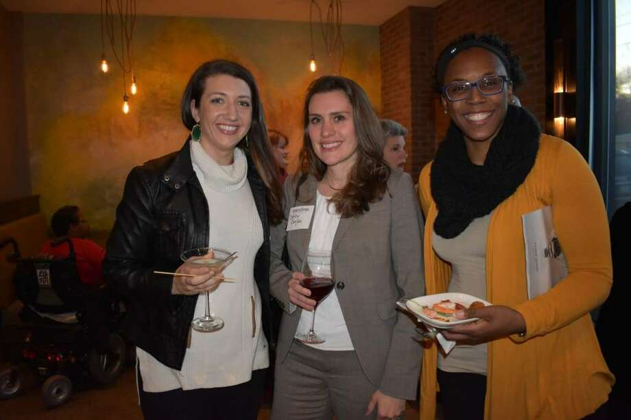 Attendees at the Food for Thought book launch party. At far left, Traci Cornwell, one of our Millennials to Watch in our September 2015 edition of Women@Work. (Shelby Wadsworth)