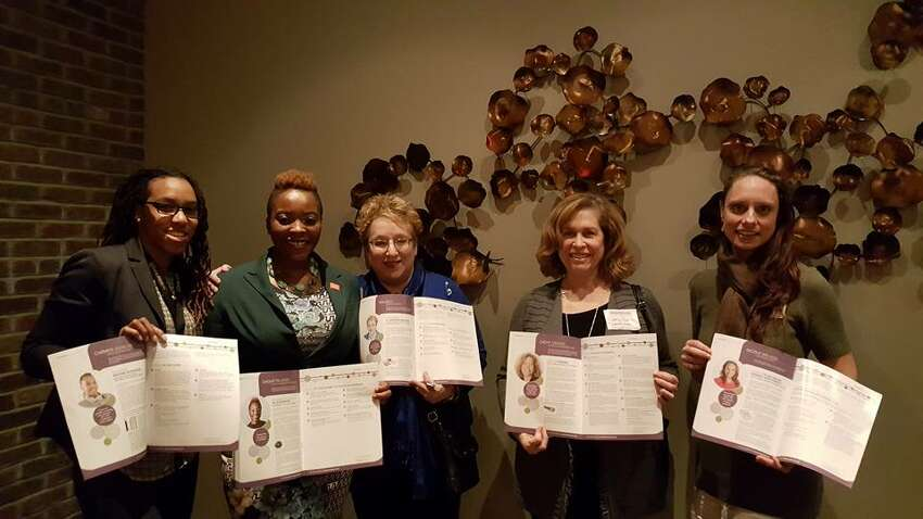 Our Women@Work breakfast speakers had their wise words captured in our Food For Thought ebook, which is available to Women@Work members online. And we even printed a few copies for our honorees at the book launch at Black & Blue Steak and Crab in Guilderland. ORG XMIT: pEYfq3NOQdoMveKsLVTD