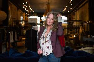 Erin Martin poses for a photograph at her store in St. Helena, Calif. on Friday, Feb. 17, 2017. Martin is a local designer.