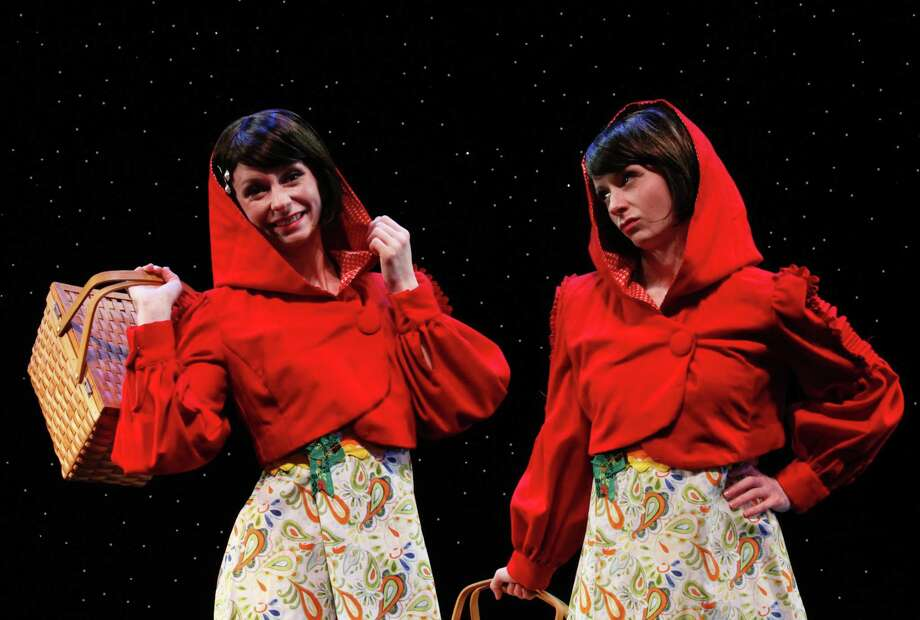 "On weekends from Feb. 25 through April 2, the Downtown Cabaret Theatre will present its updated version of an old classic by doubling down. On stage will be ""Little Red Riding Hoods,"" by Phil Hill. Photo: Downtown Cabaret Children's Theatre / Contributed Photo"
