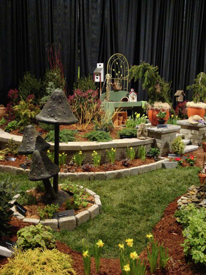 This landscape mushroom sculpture is among the highlights of the Connecticut Flower & Garden Show, Thursday through Sunday, Feb. 23-26 in Hartford. Photo: Connecticut Flower & Garden Show / Contributed Photo