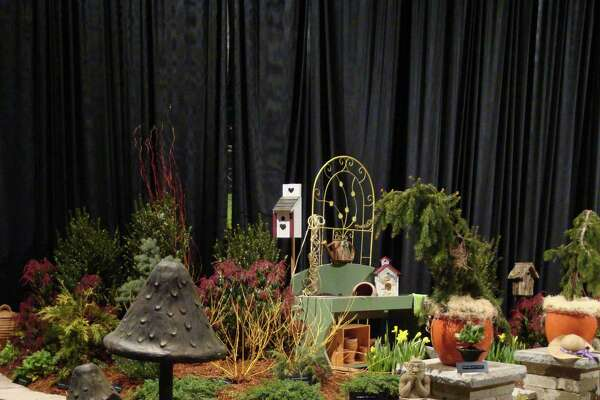 This landscape mushroom sculpture is among the highlights of the Connecticut Flower & Garden Show, Thursday through Sunday, Feb. 23-26 in Hartford.
