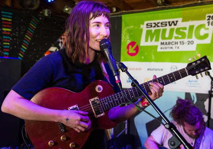 Kristine Leschper of Mothers performs at Cheer Up Charlie's on March 19, 2016 in Austin, Texas as part of SXSW.