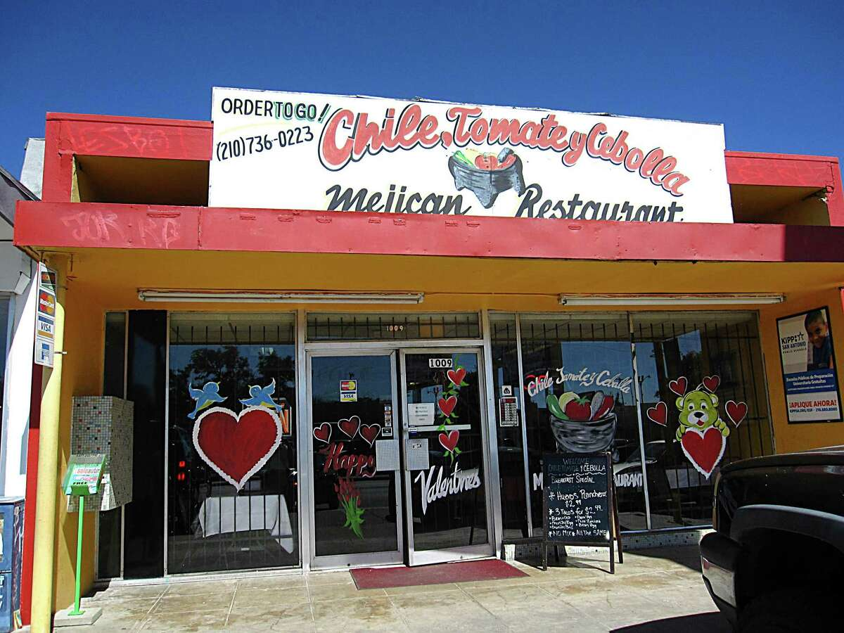 Chile Tomate y Cebolla Mexican Restaurant: 1009 Donaldson Ave., San Antonio, TX 78228  Date: 11/27/2017 Score: 69 Highlights: Food not held at correct temperature (fired potatoes, chorizo); employee seen handling ready-to-eat foods with bare hands; poisonous/toxic materials must be properly labeled; no Certified Food Manager present at time of inspection; presence of insects, rodents, other pests should be under control; consumer advisory consumption needed for raw, undercooked foods; accurate thermometers not found in coolers; food not protected from cross-contamination; food found stored in non-food grade bags; hole in ceiling seen next to exhaust vent; most recent inspection report must be posted for customer view; fix leak at sink