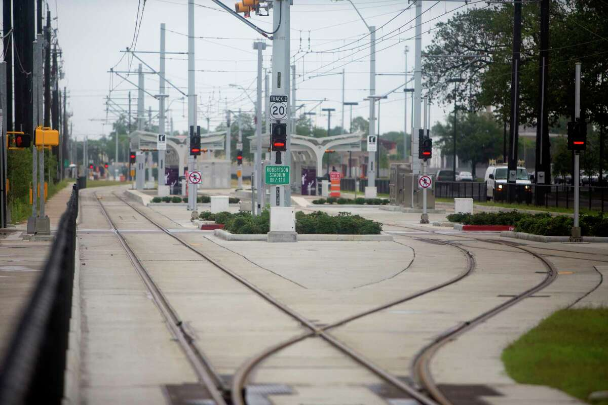 Metro's light rail is seen along Scott Street near the University of Houston on May 13, 2015. Adding more lines will take first agreement on what lines to build and then available funds.