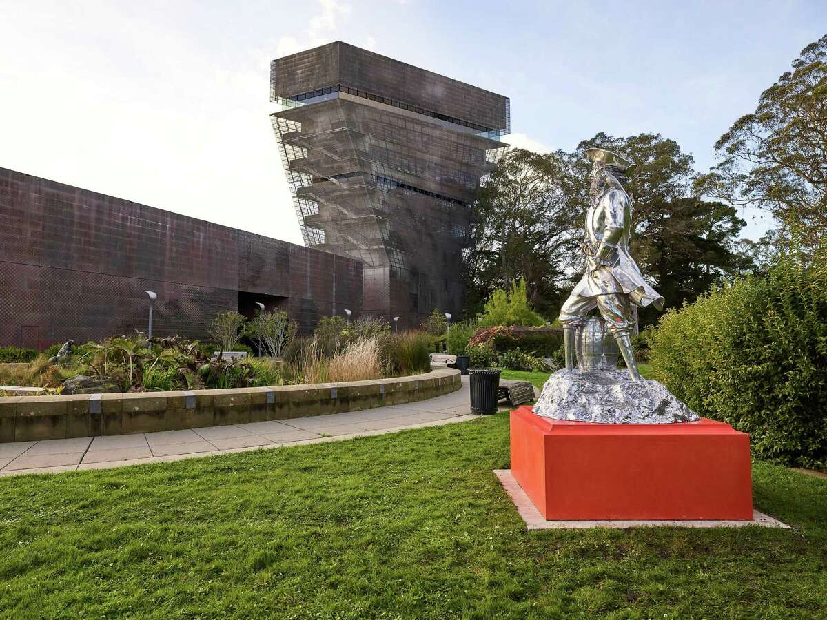 """Peter Coffin's """"Untitled (Pirate)"""" in the de Young Museum's Garden of Enchantment."""