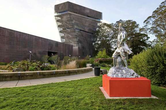 "Peter Coffin's ""Untitled (Pirate)"" in the de Young Museum's Garden of Enchantment."