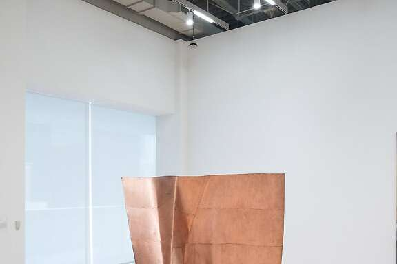 """Danh Vo, """"We the People (detail)"""" (2011�13). A hammered copper replica of one segment of the Statue of Liberty, on view at SFMOMA through April 2."""