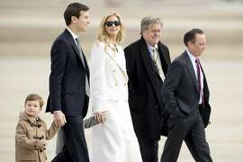 Ivanka Trump with her husband, children and two former members of her father's administration in 2017. Trump just announced that she'll be shuttering her namesake fashion brand following sluggish sales and a concerted consumer boycott.