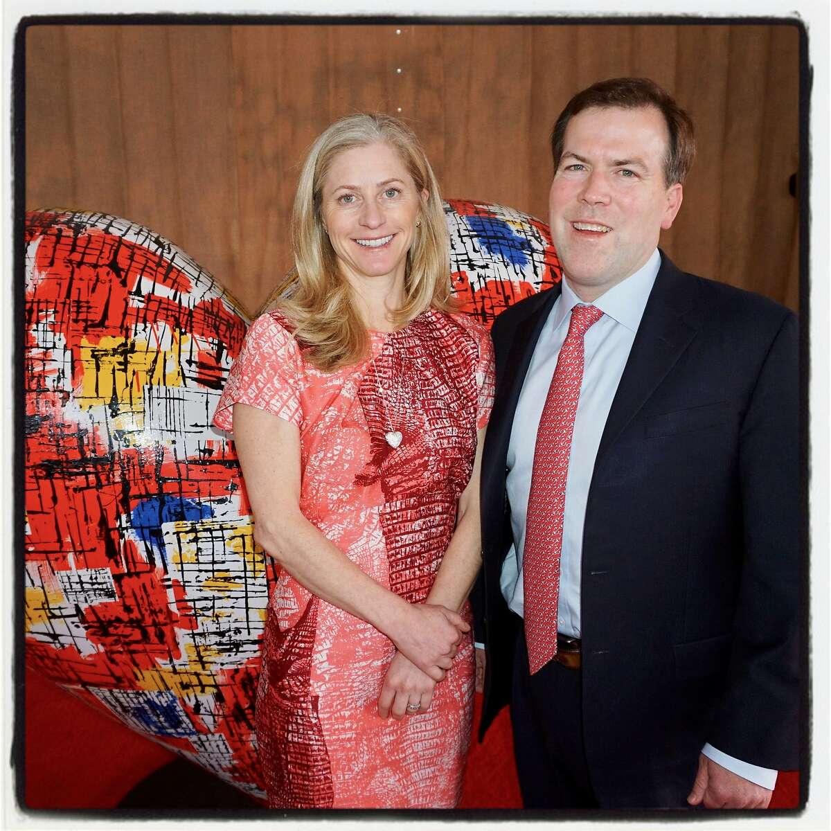 "ZSFG ""Heroes & Hearts"" Lunch co-chairs Lisa Hauswirth and John Noonan. Feb. 16, 2017."