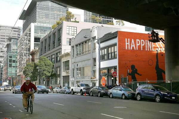 View of 547, 555, and 557 Howard St. where new buildings have been approved on Tuesday, February 14, 2017, in San Francisco, Calif.