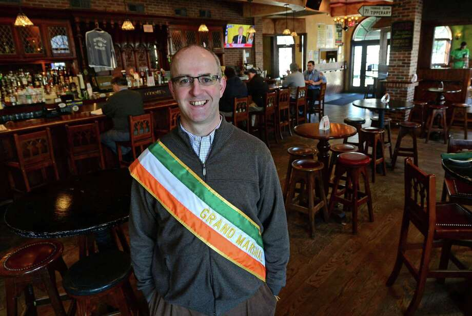 Ollie O'Neill, co-owner of O'Neill's Pub & Restaurant in SoNo, Thursday, February 16, 2017, who has been selected as grand marshal for Norwalk Police Emerald Society's second parade in his pub in Norwalk, Conn. The Parade is scheduled for Saturday, March 11. Photo: Erik Trautmann / Hearst Connecticut Media / Norwalk Hour
