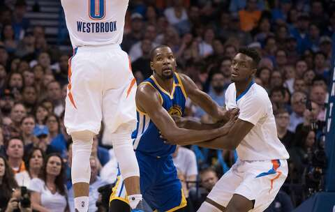 the best attitude 048a9 83f45 OKLAHOMA CITY, OK - FEBRUARY 11  Kevin Durant  35 of the Golden State