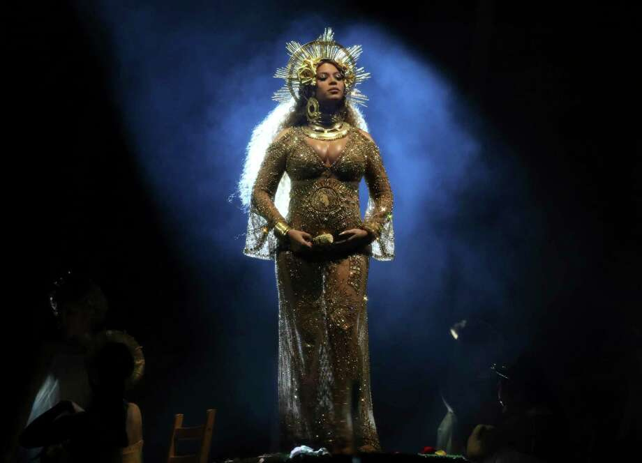 Beyonce performs at the 59th annual Grammy Awards on Sunday, Feb. 12, 2017, in Los Angeles. (Photo by Matt Sayles/Invision/AP) Photo: Matt Sayles / 2017 Invision
