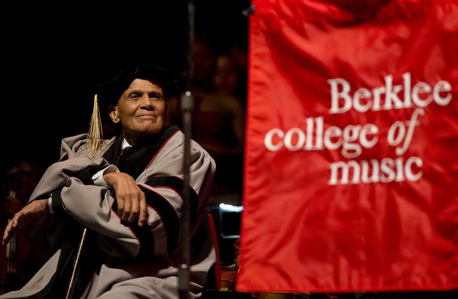 BOSTON - MARCH 6: Harry Belafonte was given an honorary degree from Berklee College of Music at the Berklee Performance Center on Thursday, March 6, 2014.