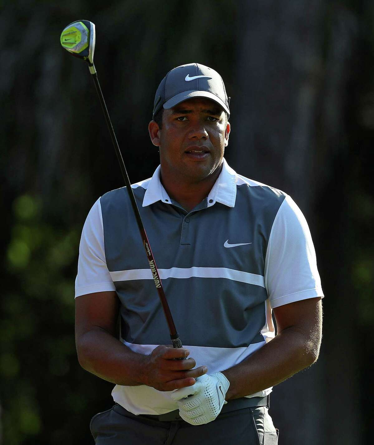 PONTE VEDRA BEACH, FL - MAY 11: Jhonattan Vegas of Venezuela in action during a practice round prior to THE PLAYERS Championship at the TPC Stadium course on May 11, 2016 in Ponte Vedra Beach, Florida. (Photo by Scott Halleran/Getty Images) ORG XMIT: 592311595