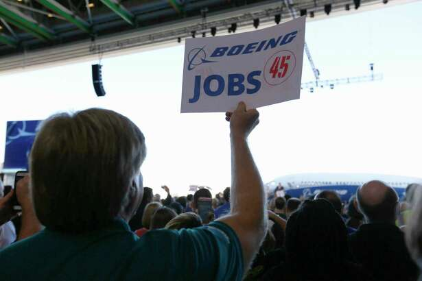 """We're going to fight for every last American job,"" Trump told Boeing employees during Friday's tour of the company's South Carolina facility."